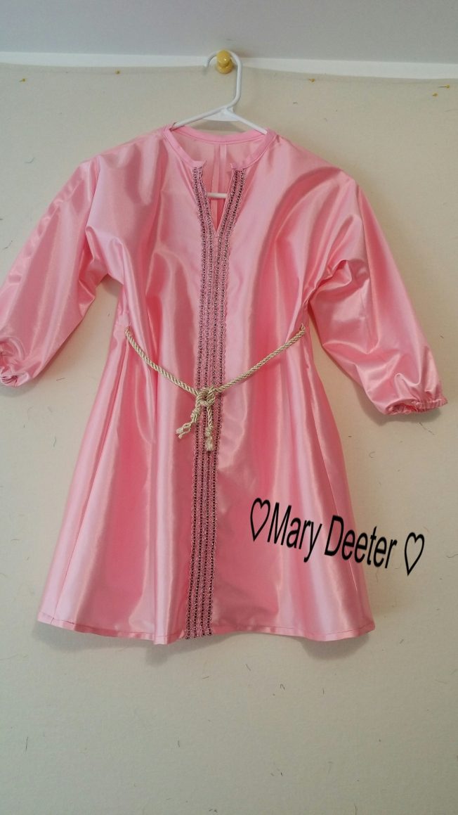 Pink Satin Maid Marion dress
